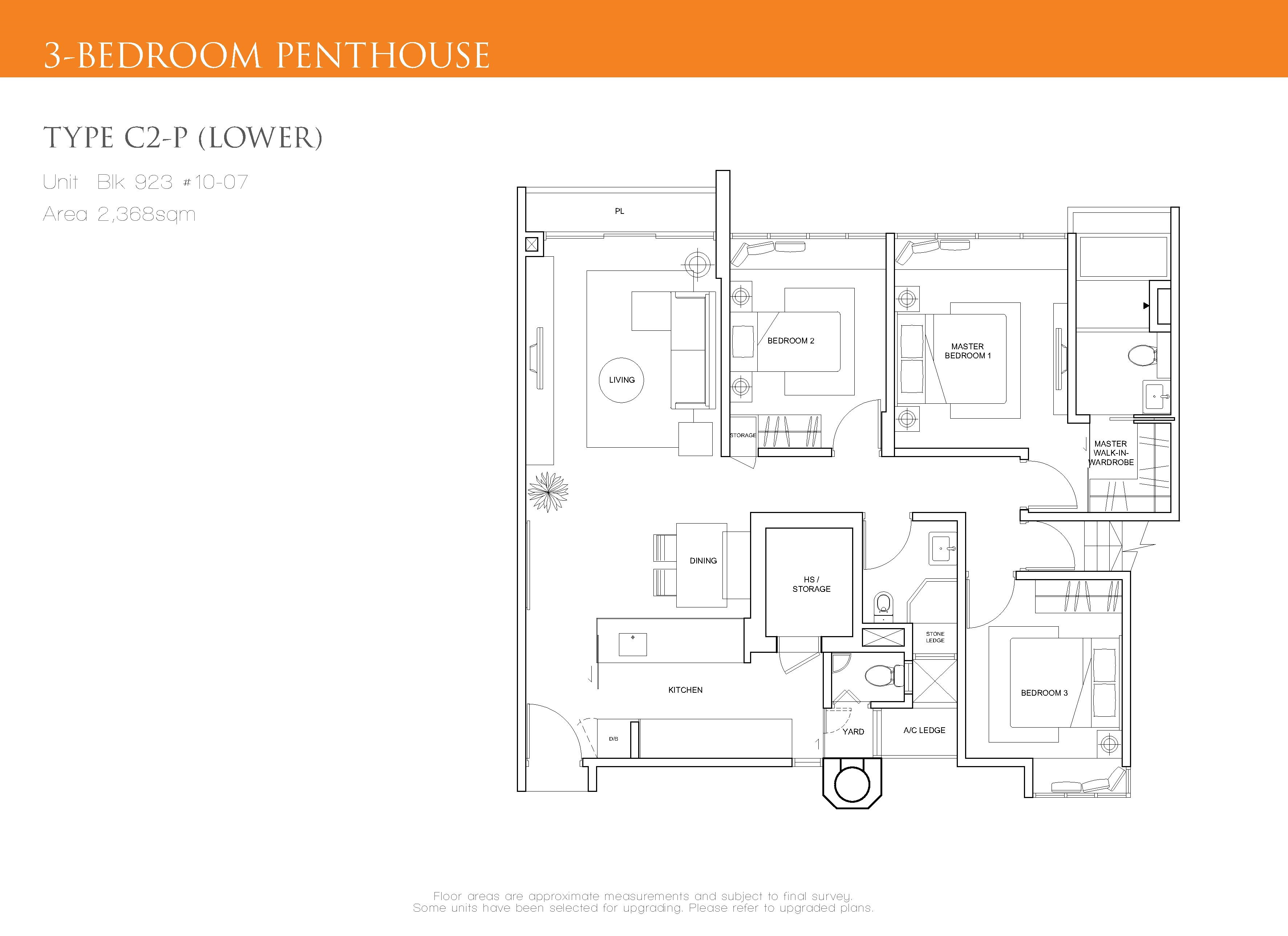 penthouse 3 bed the cascadia. Black Bedroom Furniture Sets. Home Design Ideas
